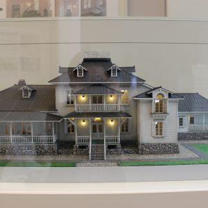 Elaborate model of Aoki House